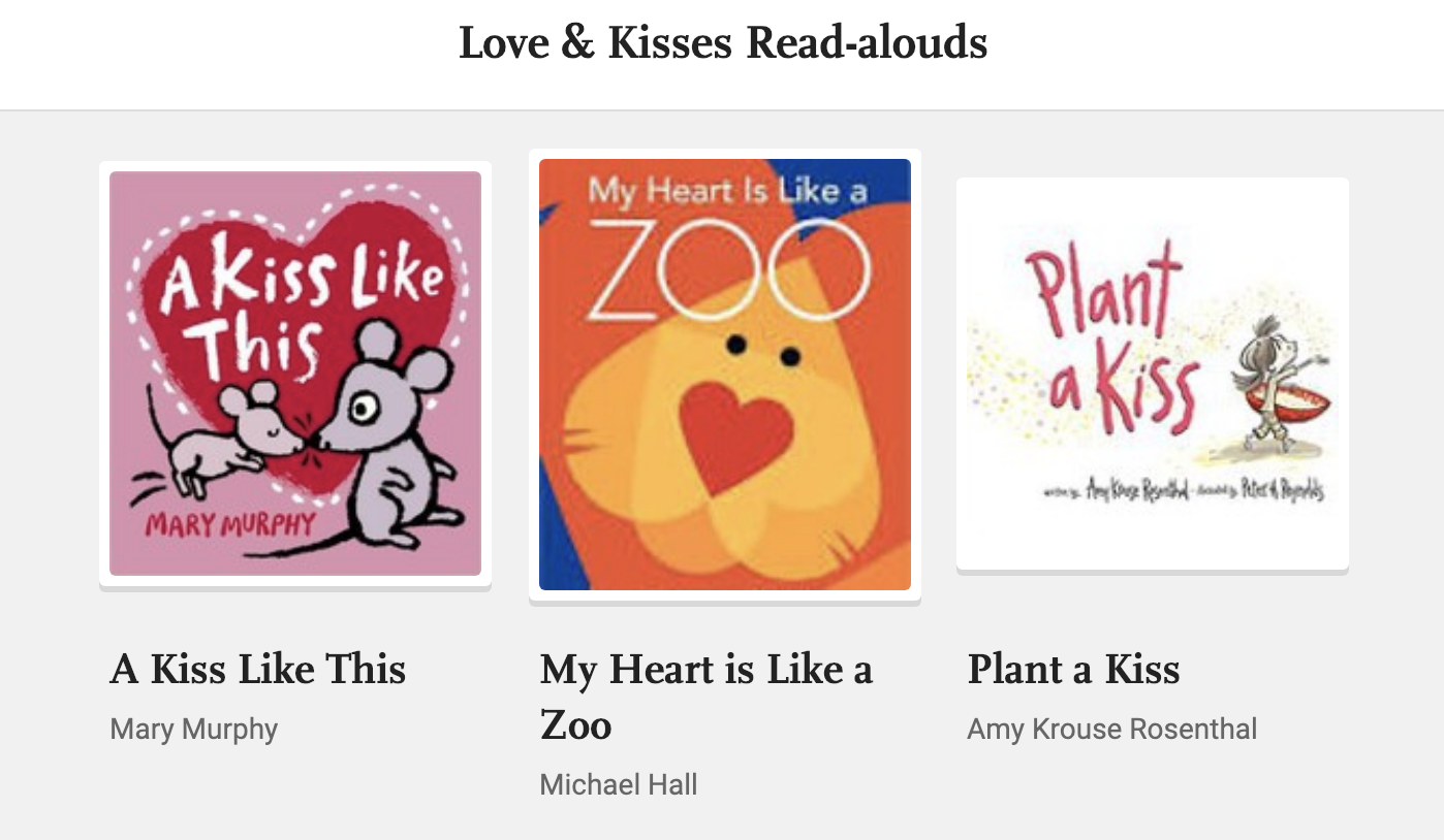 Valentines day Read-Alouds