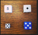 dice which one doesn't belong